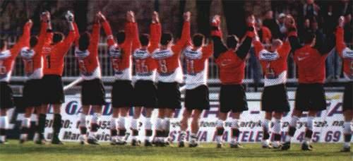 Podziękowania piłkarzy -- fot. Nasza Legia