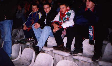 A tu nasz redaktor na meczu -- fot. Łukasz Puchalski