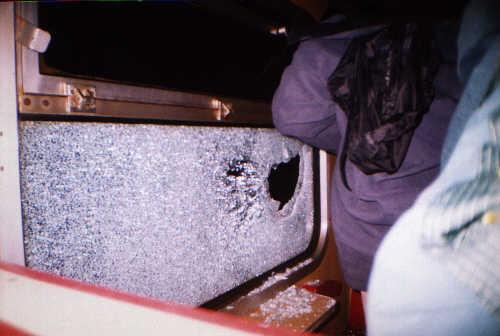 A to niemiły incydent podczas powrotu kibiców do domu! -- fot. Łukasz Puchalski