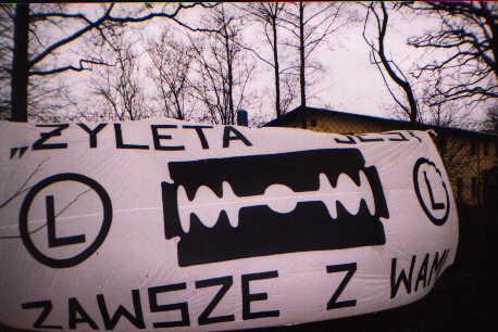 Tak prezentowała się Flaga Żylety -- fot. Łukasz Puchalski