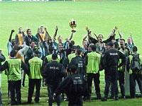 Po raz kolejny piłkarze Legii cieszyli się na stadionie Wisły! Puchar jest nasz! - fot. Woytek