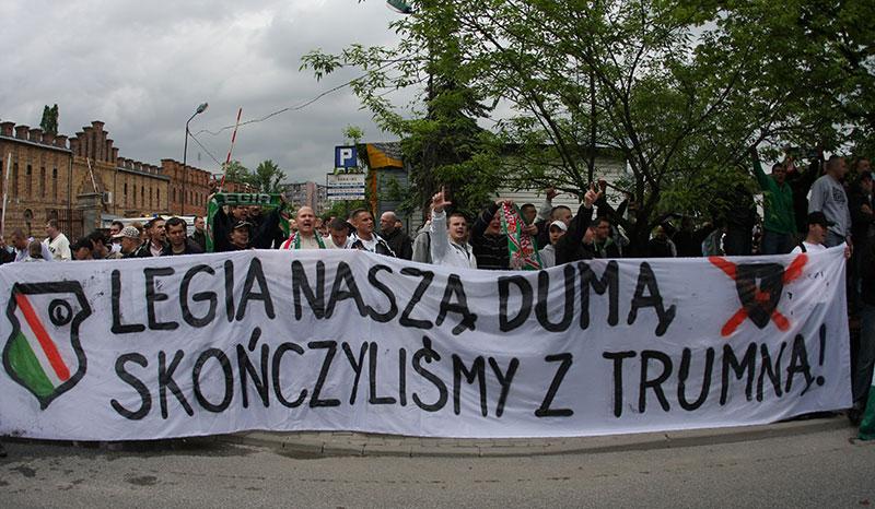Pikieta kibiców Legii Warszawa - fot. Piotr Galas (zdjęcie 1 z 55)