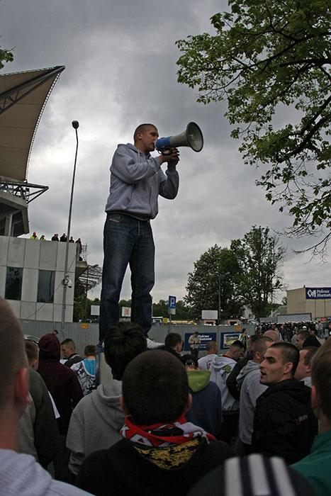 Pikieta kibiców Legii Warszawa - fot. Piotr Galas (zdjęcie 11 z 55)