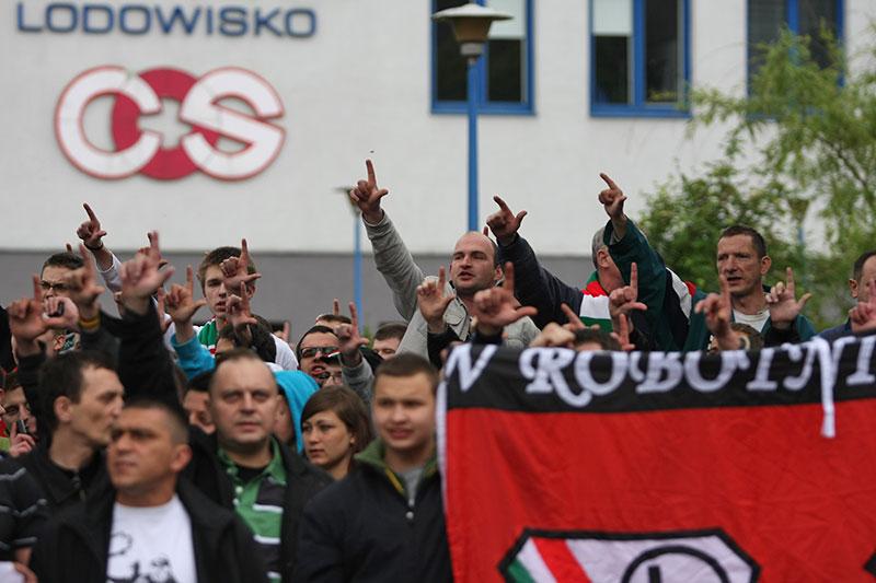 Pikieta kibiców Legii Warszawa - fot. Piotr Galas (zdjęcie 27 z 55)