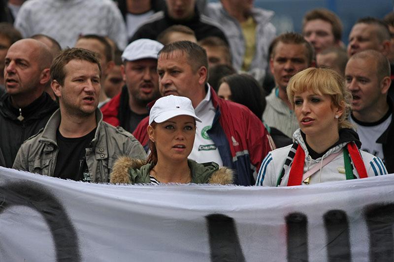 Pikieta kibiców Legii Warszawa - fot. Piotr Galas (zdjęcie 3 z 55)