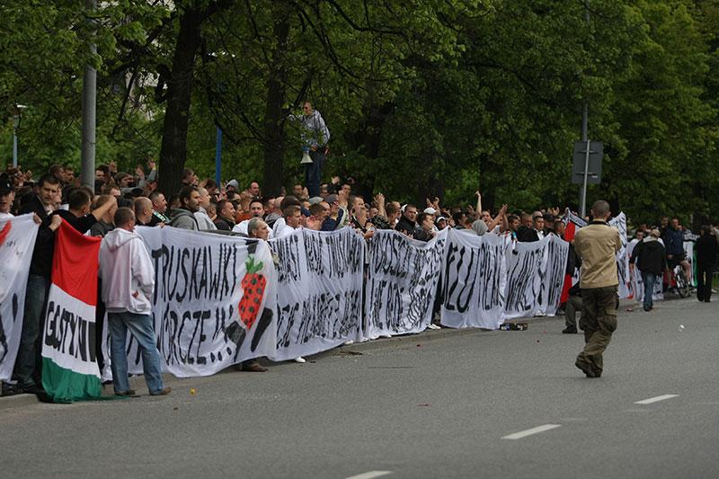 Pikieta kibiców Legii Warszawa - fot. Piotr Galas (zdjęcie 33 z 55)