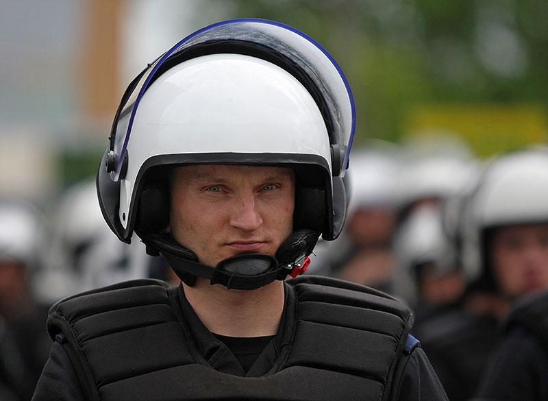Pikieta kibiców Legii Warszawa - fot. Piotr Galas (zdjęcie 36 z 55)