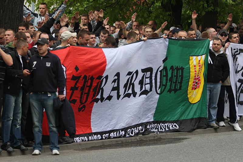 Pikieta kibiców Legii Warszawa - fot. Piotr Galas (zdjęcie 38 z 55)