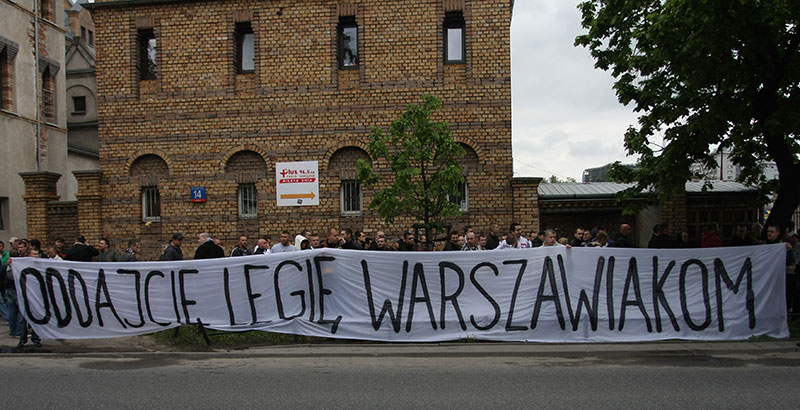 Pikieta kibiców Legii Warszawa - fot. Piotr Galas (zdjęcie 43 z 55)