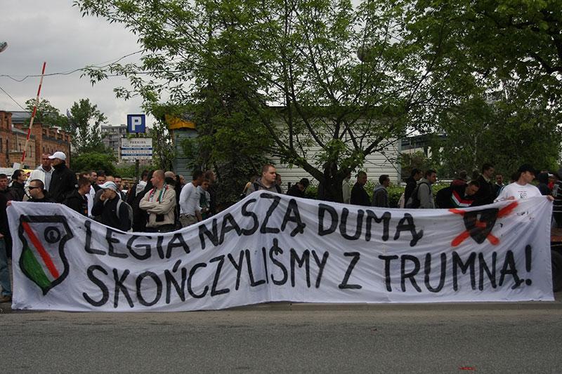 Pikieta kibiców Legii Warszawa - fot. Piotr Galas (zdjęcie 44 z 55)