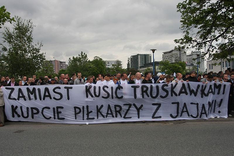 Pikieta kibiców Legii Warszawa - fot. Piotr Galas (zdjęcie 46 z 55)