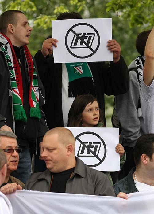 Pikieta kibiców Legii Warszawa - fot. Piotr Galas (zdjęcie 5 z 55)