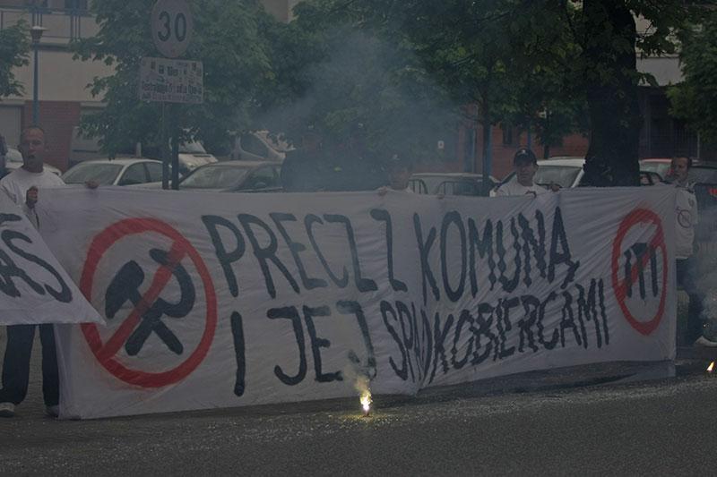 Pikieta kibiców Legii Warszawa - fot. Piotr Galas (zdjęcie 50 z 55)