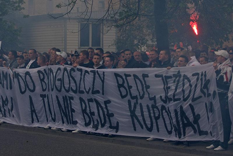 Pikieta kibiców Legii Warszawa - fot. Piotr Galas (zdjęcie 51 z 55)