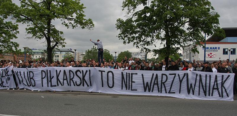 Pikieta kibiców Legii Warszawa - fot. Piotr Galas (zdjęcie 55 z 55)