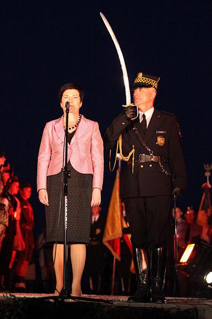 Obchody wybuchu Powstania Warszawskiego na Kopcu Powstania Warszawskiego - fot. Piotr Galas (zdjęcie 13 z 29)