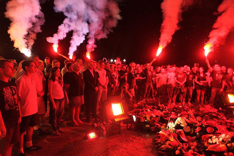 Obchody wybuchu Powstania Warszawskiego na Kopcu Powstania Warszawskiego - fot. Piotr Galas (zdjęcie 26 z 29)
