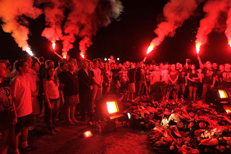Obchody wybuchu Powstania Warszawskiego na Kopcu Powstania Warszawskiego - fot. Piotr Galas (zdjęcie 27 z 29)