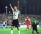 Tak cieszył się Adam Majewski po zwycięstwie w Zabrzu - fot. PAP