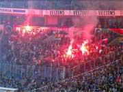 Kibice Legii na stadionie Schalke