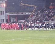 Piłkarze obu drużyn nie stowrzyli wielkiego widowiska - fot. Szczepan