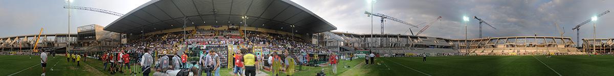 Panorama stadionu na Łazienkowskiej - 05.08.2009