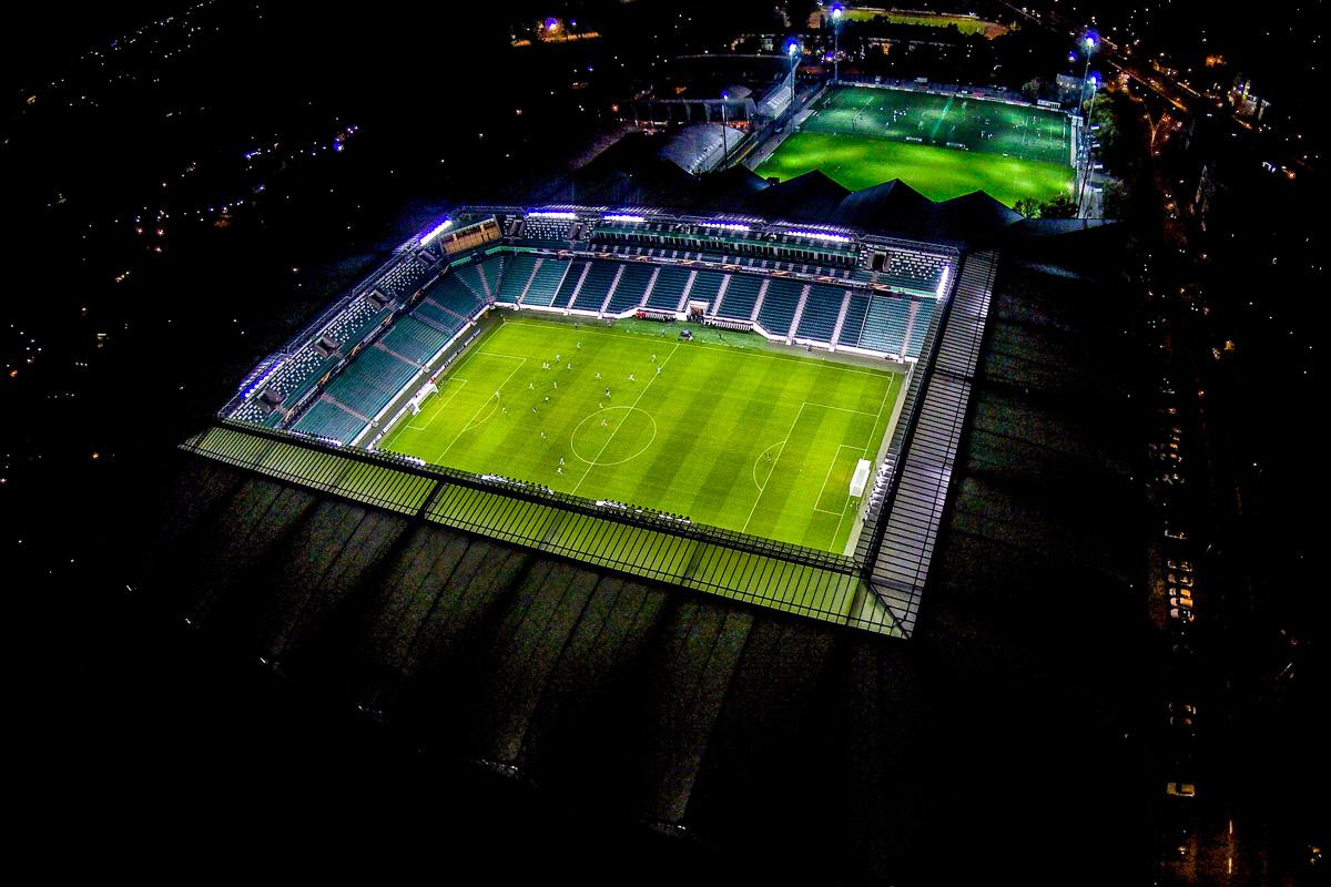 Stadion Legii z lotu ptaka - fot. Hagi / Legionisci.com