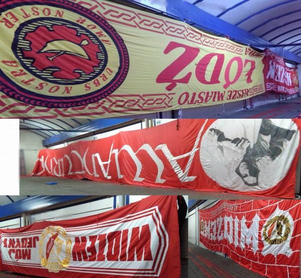 Zaktualizowano Na stadionach: Awanturnicy w Łodzi - flagi zmieniają właściciela DG73