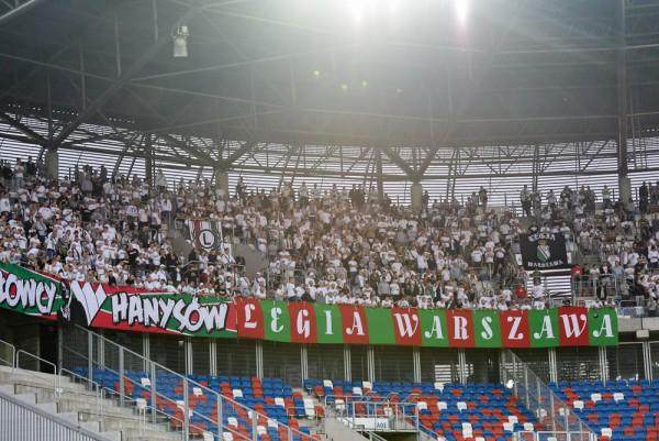 Kibice Legii w Zabrzu - fot. Mishka / Legionisci.com