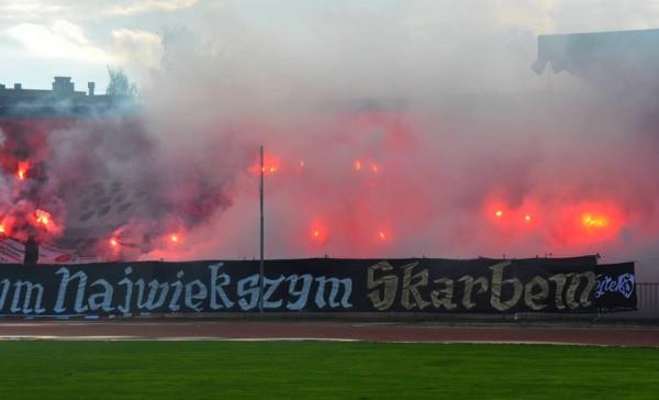 Resovia na meczu z Wisłą Sandomierz
