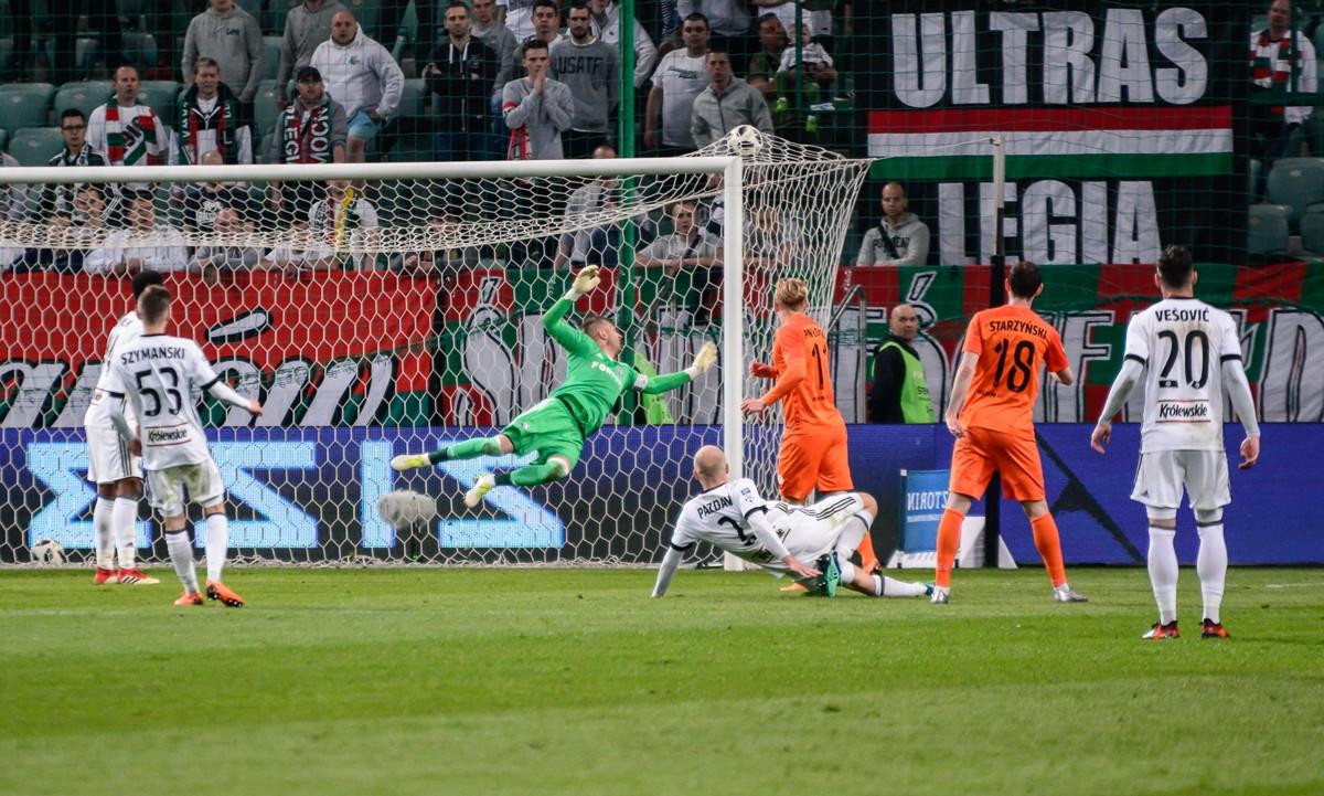 Arkadiusz Malarz skapitulował raz w meczu z Zagłębiem - fot. Marcin Banaszkiewicz / Legionisci.com