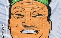 Lech Poznań na meczu z Lechią Gdańsk zaprezentował transparent wyśmiewający zainteresowanie gdańskim klubem ze strony mieszkańców Indonezji - fot. fotokolejorz.pl