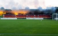 ŁKS Łódź na wyjazdowym meczu z GKS-em Bełchatów - fot. gksbelchatow.com