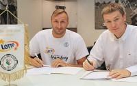 Adam Linowski i Marcin Widomski, dyrektor wykonawczy koszykarskiej Legii - fot. Jacek Prondzynski / legia.com