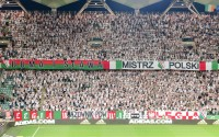 Młyn legionistów na meczu z Cork na trybunie im. K. Deyny - fot. Mishka / Legionisci.com
